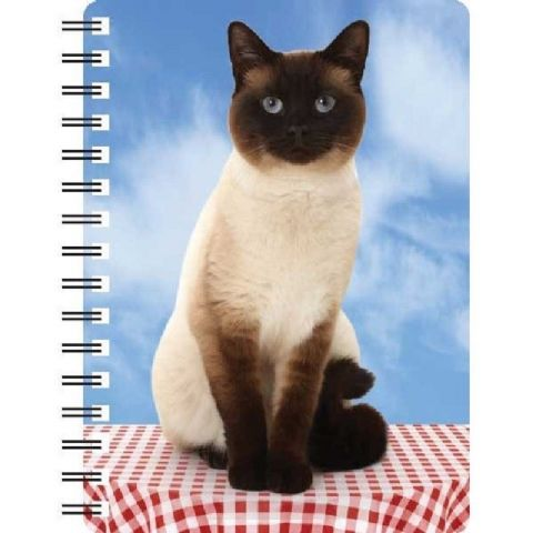 Chocolate Point Siamese Cat 3D notebook ideal Christmas stocking filler